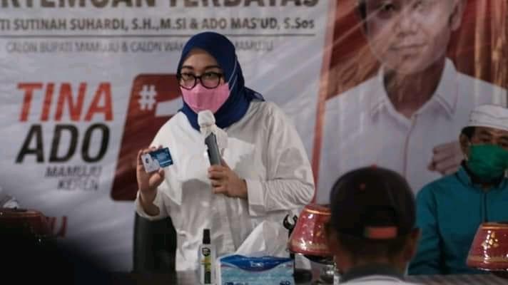 Kampanye Perdana, Sutina Perkenalkan Kartu Mamuju Keren