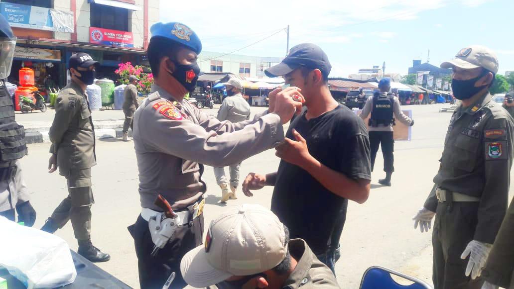 Polresta Mamuju Tingkatkan Operasi Yustisi Prokes