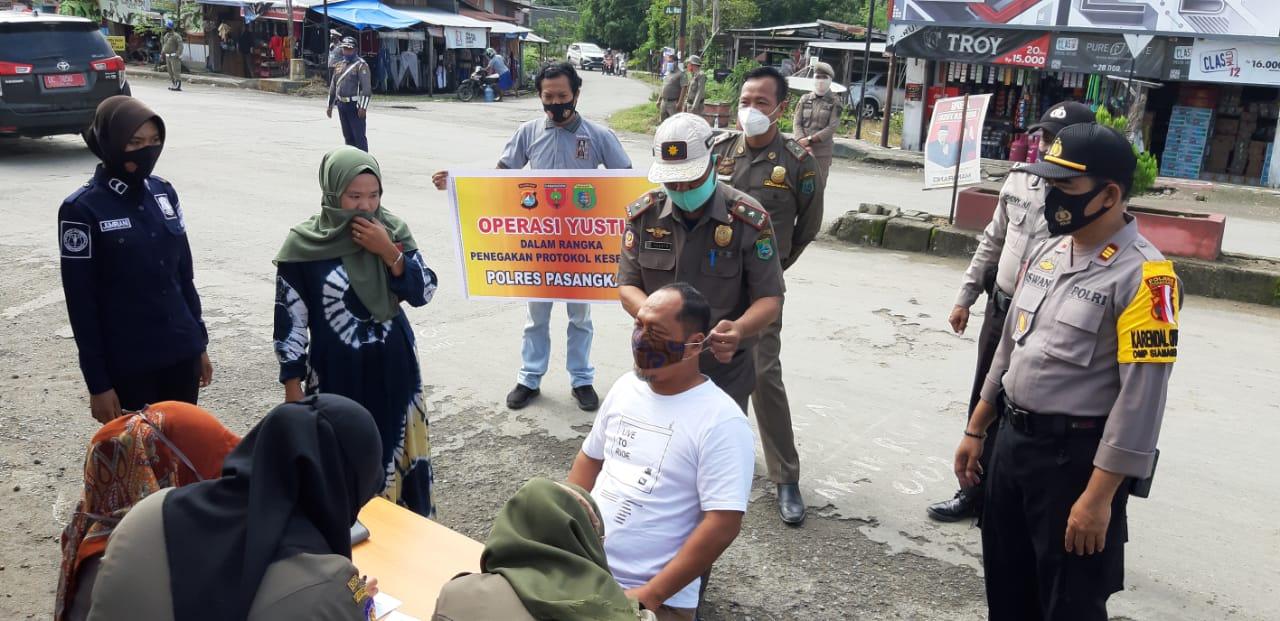 Polres Pasangkayu Jaring 23 Pelanggar Prokes Dalam Operasi Yustisi